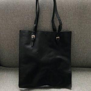 Zara Basic Slim Leather Tote Bag